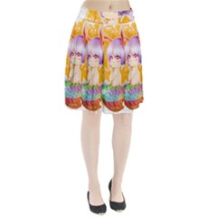 Easter Bunny Girl Pleated Skirt by Catifornia
