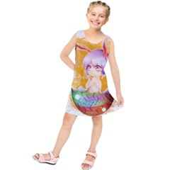 Easter Bunny Girl Kids  Tunic Dress by Catifornia