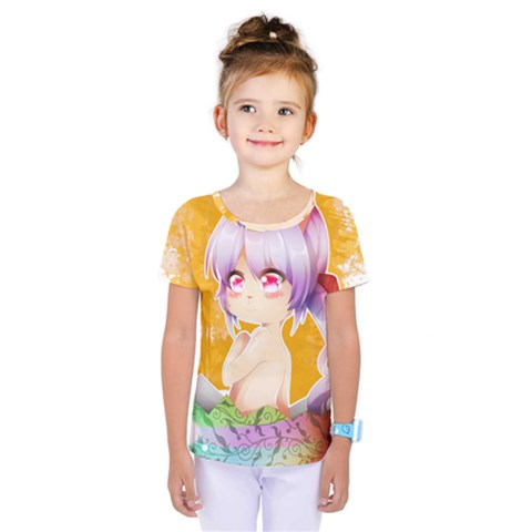 Easter Bunny Girl Kids  One Piece Tee by Catifornia