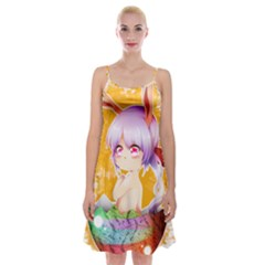 Easter Bunny Girl Spaghetti Strap Velvet Dress by Catifornia
