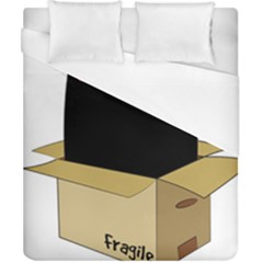Black Cat In A Box Duvet Cover (california King Size) by Catifornia