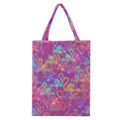 Flamingo Pattern Classic Tote Bag by Valentinaart