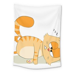 Even Cat Hates Monday Medium Tapestry by Catifornia