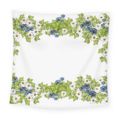 Birthday Card Flowers Daisies Ivy Square Tapestry (large) by Nexatart