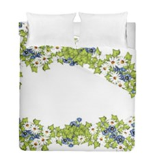 Birthday Card Flowers Daisies Ivy Duvet Cover Double Side (full/ Double Size) by Nexatart
