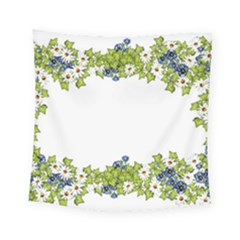 Birthday Card Flowers Daisies Ivy Square Tapestry (small) by Nexatart