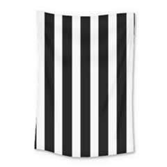 Black White Line Vertical Small Tapestry by Mariart