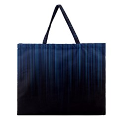 Black Blue Line Vertical Space Sky Zipper Large Tote Bag by Mariart