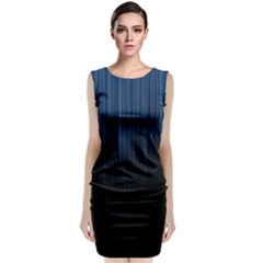 Black Blue Line Vertical Space Sky Classic Sleeveless Midi Dress by Mariart