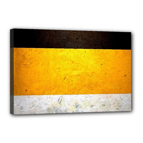 Wooden Board Yellow White Black Canvas 18  X 12  by Mariart