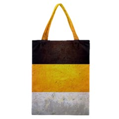 Wooden Board Yellow White Black Classic Tote Bag by Mariart