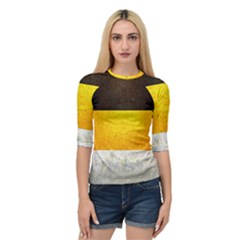 Wooden Board Yellow White Black Quarter Sleeve Tee by Mariart