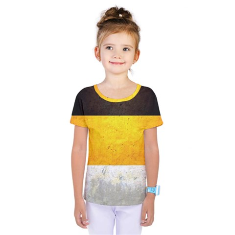 Wooden Board Yellow White Black Kids  One Piece Tee by Mariart