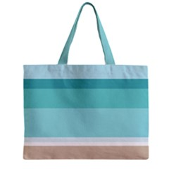 Dachis Beach Line Blue Water Mini Tote Bag by Mariart