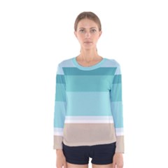Dachis Beach Line Blue Water Women s Long Sleeve Tee by Mariart