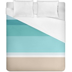 Dachis Beach Line Blue Water Duvet Cover (california King Size) by Mariart
