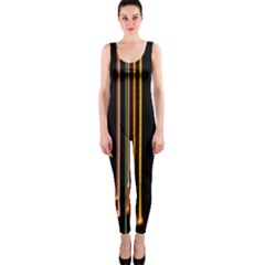 Fallen Christmas Lights And Light Trails Onepiece Catsuit