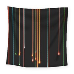 Fallen Christmas Lights And Light Trails Square Tapestry (large) by Mariart