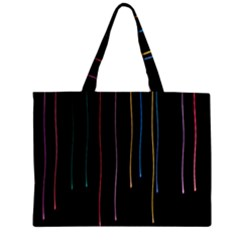 Falling Light Lines Perfection Graphic Colorful Zipper Mini Tote Bag by Mariart