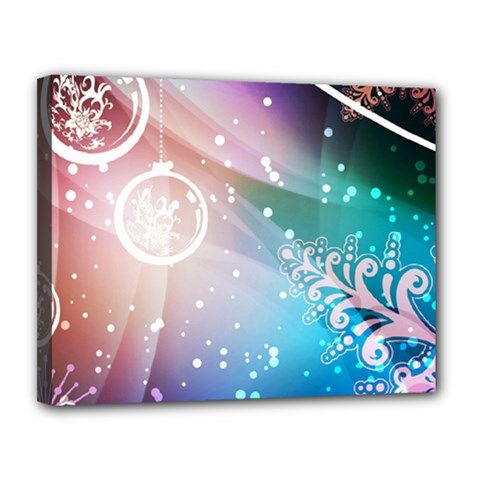 Christmas Canvas 14  X 11  by Mariart