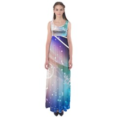 Christmas Empire Waist Maxi Dress by Mariart