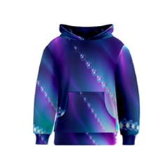 Flow Blue Pink High Definition Kids  Pullover Hoodie by Mariart