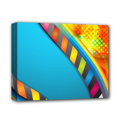 Color Dream Polka Deluxe Canvas 14  X 11  by Mariart