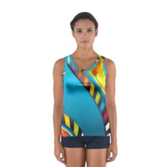 Color Dream Polka Women s Sport Tank Top  by Mariart
