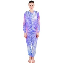 Creation Light Blue White Neon Sun Onepiece Jumpsuit (ladies)