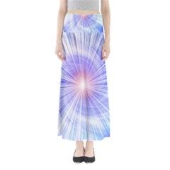 Creation Light Blue White Neon Sun Maxi Skirts by Mariart
