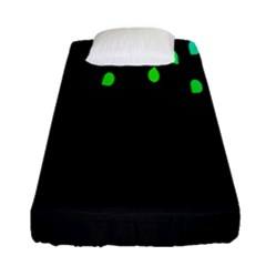 Green Black Widescreen Fitted Sheet (single Size)