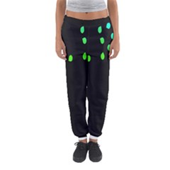 Green Black Widescreen Women s Jogger Sweatpants by Mariart