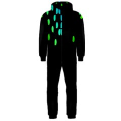Green Black Widescreen Hooded Jumpsuit (men)  by Mariart