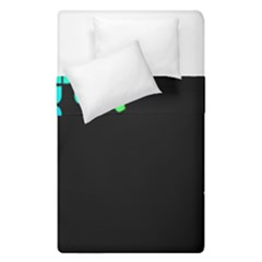 Green Black Widescreen Duvet Cover Double Side (single Size)