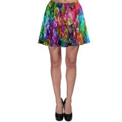 Colorful Bubble Shining Soap Rainbow Skater Skirt by Mariart