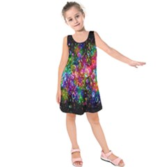Colorful Bubble Shining Soap Rainbow Kids  Sleeveless Dress by Mariart