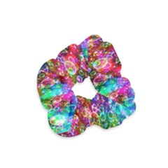 Colorful Bubble Shining Soap Rainbow Velvet Scrunchie by Mariart