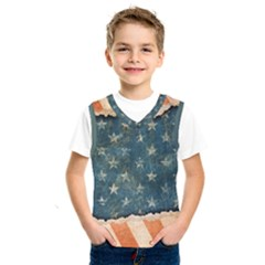 Grunge Ripped Paper Usa Flag Kids  Sportswear by Mariart