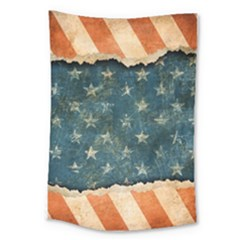 Grunge Ripped Paper Usa Flag Large Tapestry by Mariart