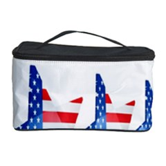 Multiple Us Flag Stars Line Slide Cosmetic Storage Case by Mariart