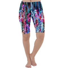 Fireworks Rainbow Cropped Leggings  by Mariart