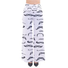 Mustache Man Black Hair Pants by Mariart