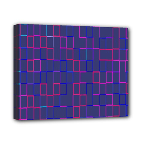 Grid Lines Square Pink Cyan Purple Blue Squares Lines Plaid Canvas 10  X 8  by Mariart