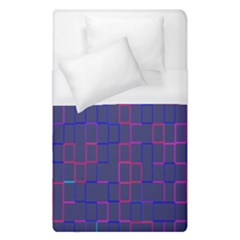 Grid Lines Square Pink Cyan Purple Blue Squares Lines Plaid Duvet Cover (single Size) by Mariart