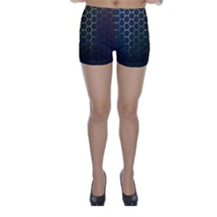 Hexagons Honeycomb Skinny Shorts by Mariart