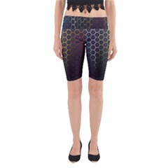 Hexagons Honeycomb Yoga Cropped Leggings by Mariart