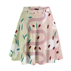 Gut Story High Waist Skirt by Mariart