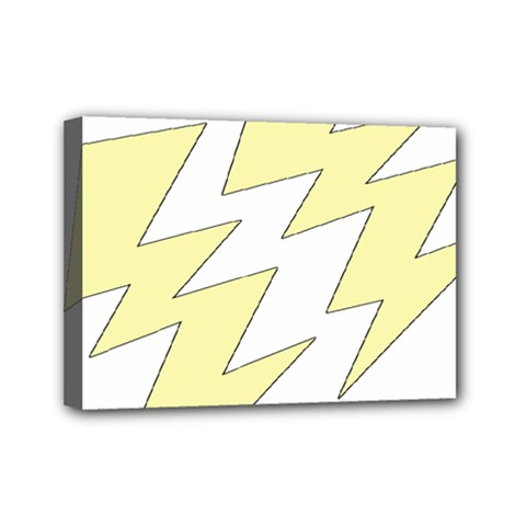 Lightning Yellow Mini Canvas 7  X 5  by Mariart