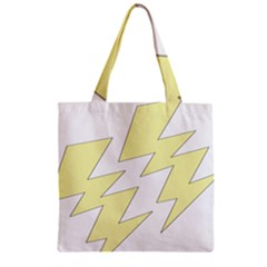Lightning Yellow Zipper Grocery Tote Bag by Mariart