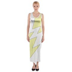 Lightning Yellow Fitted Maxi Dress
